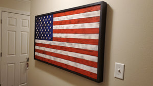 "Large Rustic American Flag 60"" (5 ft) x 36"" (3ft) - Subvet Customs"
