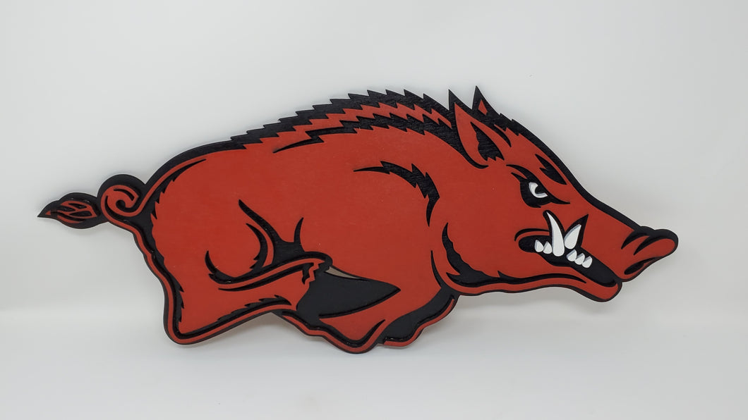 3-D Wooden University of Arkansas Razorbacks Wall Art - Subvet Customs