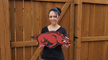 Load image into Gallery viewer, 3-D Wooden University of Arkansas Razorbacks Wall Art - Subvet Customs