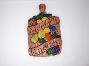 Kitchen Plaque  with Customizable Text - Subvet Customs