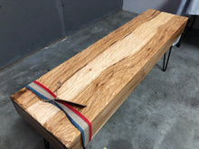 Load image into Gallery viewer, Ripple Carved Hickory Bench - Subvet Customs