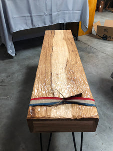 Ripple Carved Hickory Bench - Subvet Customs