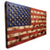 "Natural Color Rustic American Flag - 19""x36""  - with 3D Raised Stars"