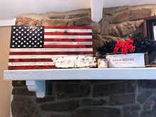 "Load image into Gallery viewer, 36""x19"" Large Red, White, and Blue American Flag with 3D Raised Stars. - Subvet Customs"
