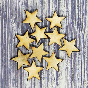 "1"" Wood Stars (500 count) - Subvet Customs"