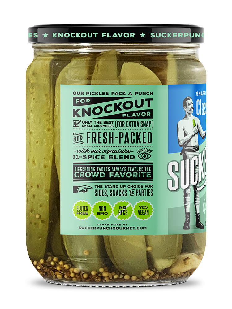 SuckerPunch Gourmet Classic Dill Spears