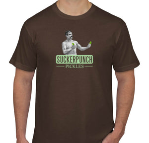 SuckerPunch Unisex Brown Logo T-shirt
