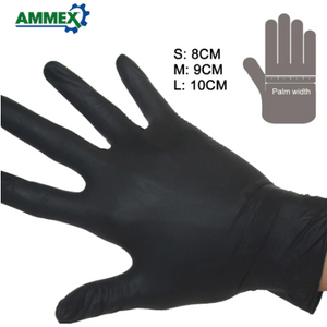 100pcs Disposable Gloves Oil Acid Resistant Nitrile Rubber Gloves For Home Food Laboratory Cleaning Use