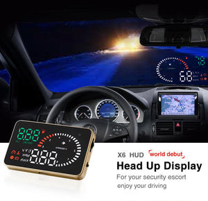 "OBD2 HUD Car Head Up Display 5.5"" LED Windscreen Projector OBD Scanner Speed Fuel Warning Alarm Data Diagnostic Tool(Free Shipping)"