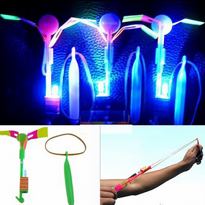 【40% OFF Holiday Promotion】Amazing Rocket Slingshot LED Helicopters
