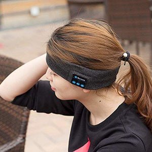 Bluetooth Headband Sweatband with Wireless Headphone Headset Speaker Mic Handsfree Music Call for Outdoor Indoor Sports Gym Exercise Running Yoga Dancing Camping Gift Men Women Boys Girls