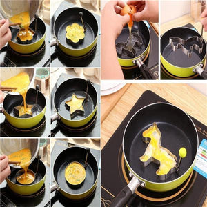 Egg Ring Pancake Mold Stainless Steel Pancake Forms Fried Egg Mold