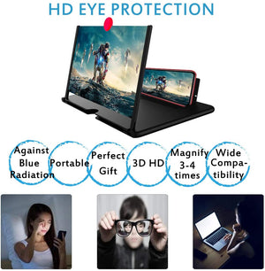"10"" Screen Magnifier –3D HD Mobile Phone Magnifier Projector Screen"