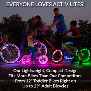 LED Bike Wheel Lights! Get 100% Brighter and Visible from All Angles for Ultimate Safety & Style(Buy 2 Free Shipping)