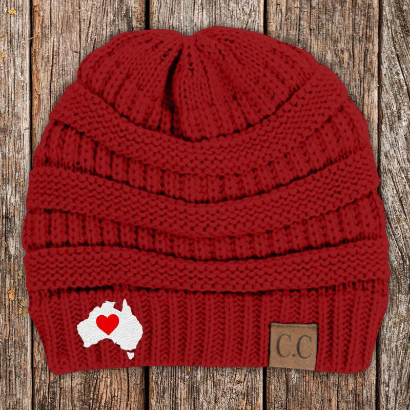 Hearts For Australia Beanie(Free Shipping)