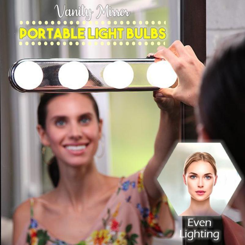 Vanity Mirror Portable Light Bulbs+Free Shipping