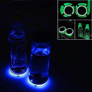 CUP HOLDER WATERPROOF LED SOLAR BOTTOM MAT PAD(Buy 2 Free Shipping)