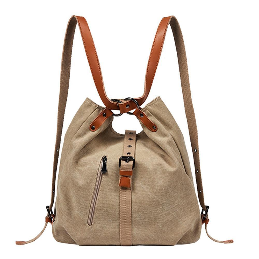 【WINTER SALE 50% OFF】Canvas Backpack-Shoulder Bag with Extra Large Capacity