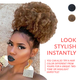 Women High Puff Ponytail & Buy 2 Free shipping