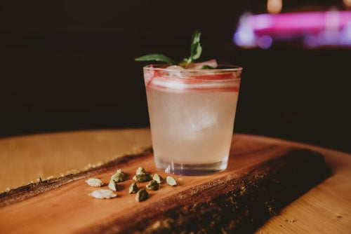 Delicious rhubarb cocktail