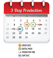 3 Day production calendar