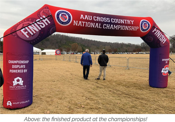 MVP Visuals Custom Inflatable Arch Finish Line
