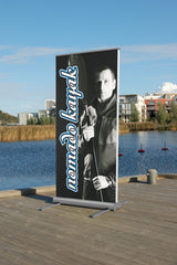 Outdoor banner roll up