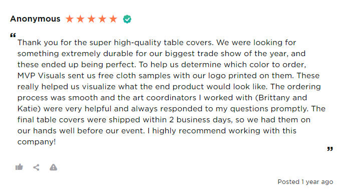 Anonymous customer review