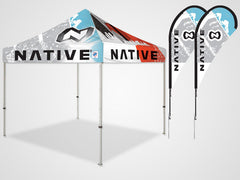 Custom Tent Tear Drop Flags