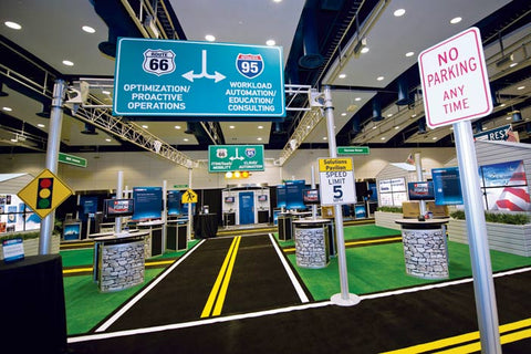 Traffic theme trade show booth