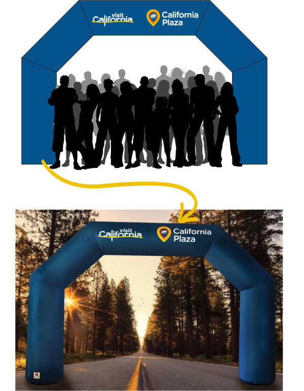Visit California Inflatable Arch