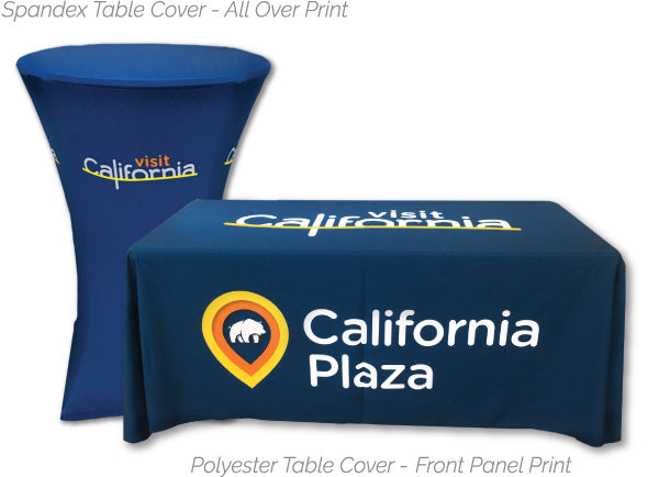 Full-color display tablecloths