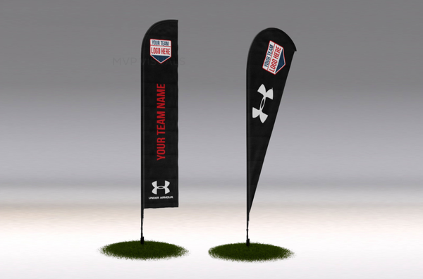 MVP Visuals Flying Teardrop Flag Under Armour