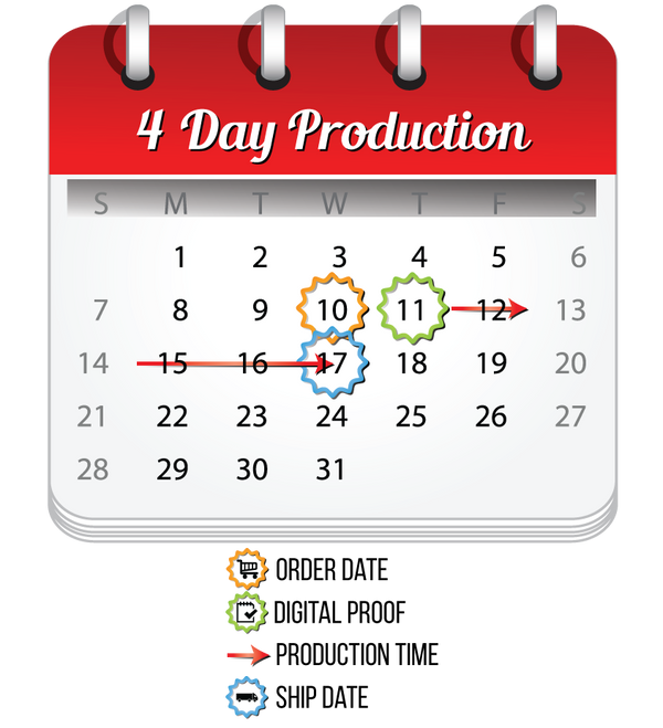 MVP Visuals 4 Day Production Calendar