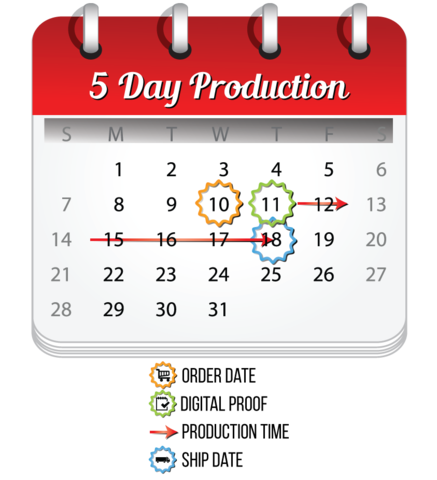 5 Day Production Calendar