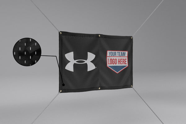 MVP Visuals Under Armour Polyester Fabric Banners - Mesh