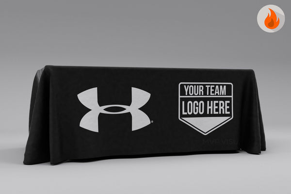 MVP Visuals Polyester Table Cover 1 Color Front Panel Print Under Armour