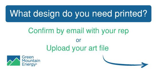 Confirm your art by email or upload your file