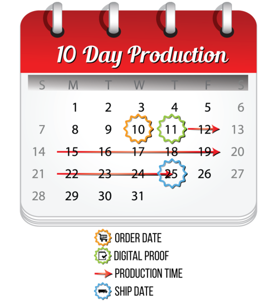 MVP Visuals 10 Day Production Calendar