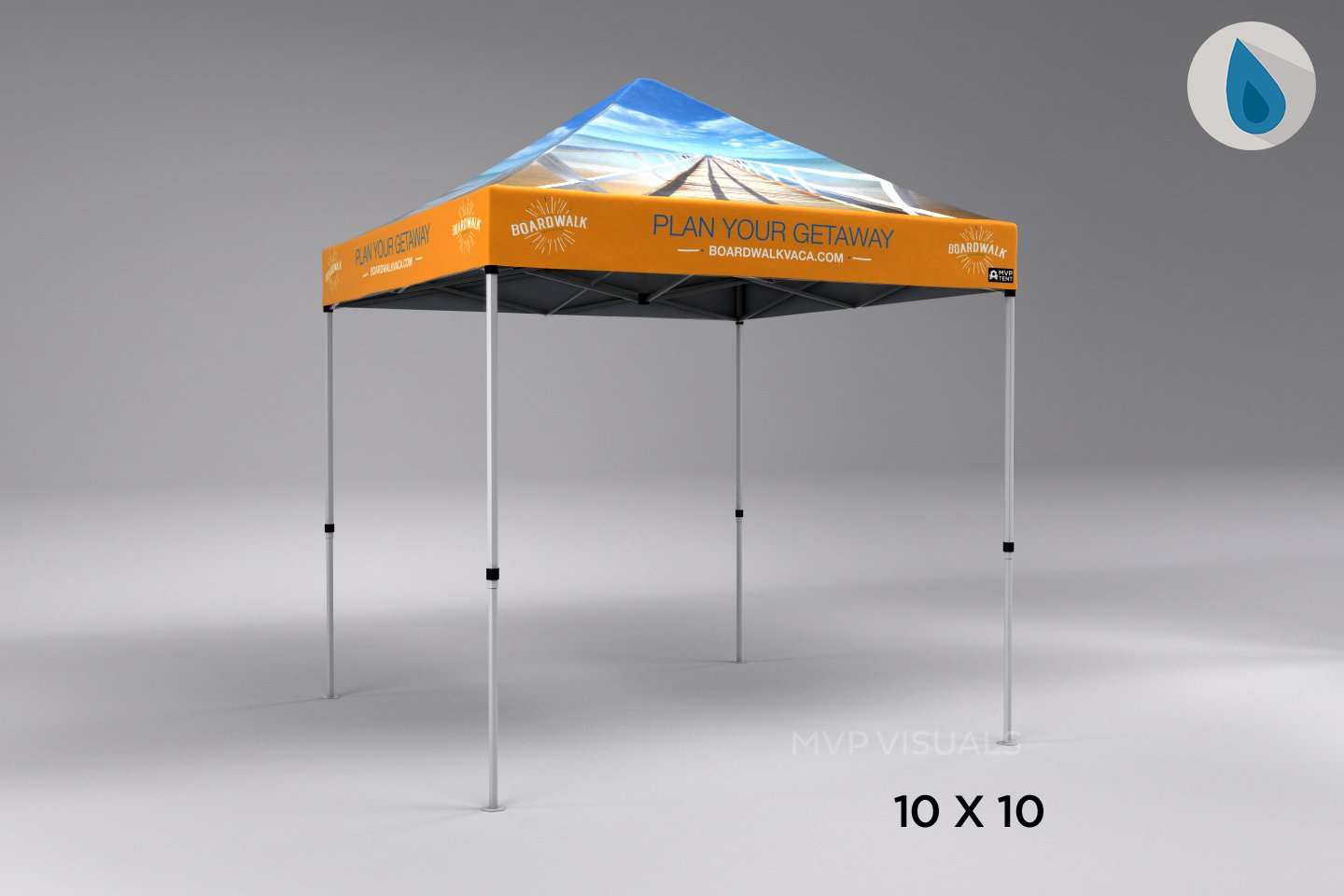 custom pop up tent with logo on PVCdome-shaped polyester tent fabric