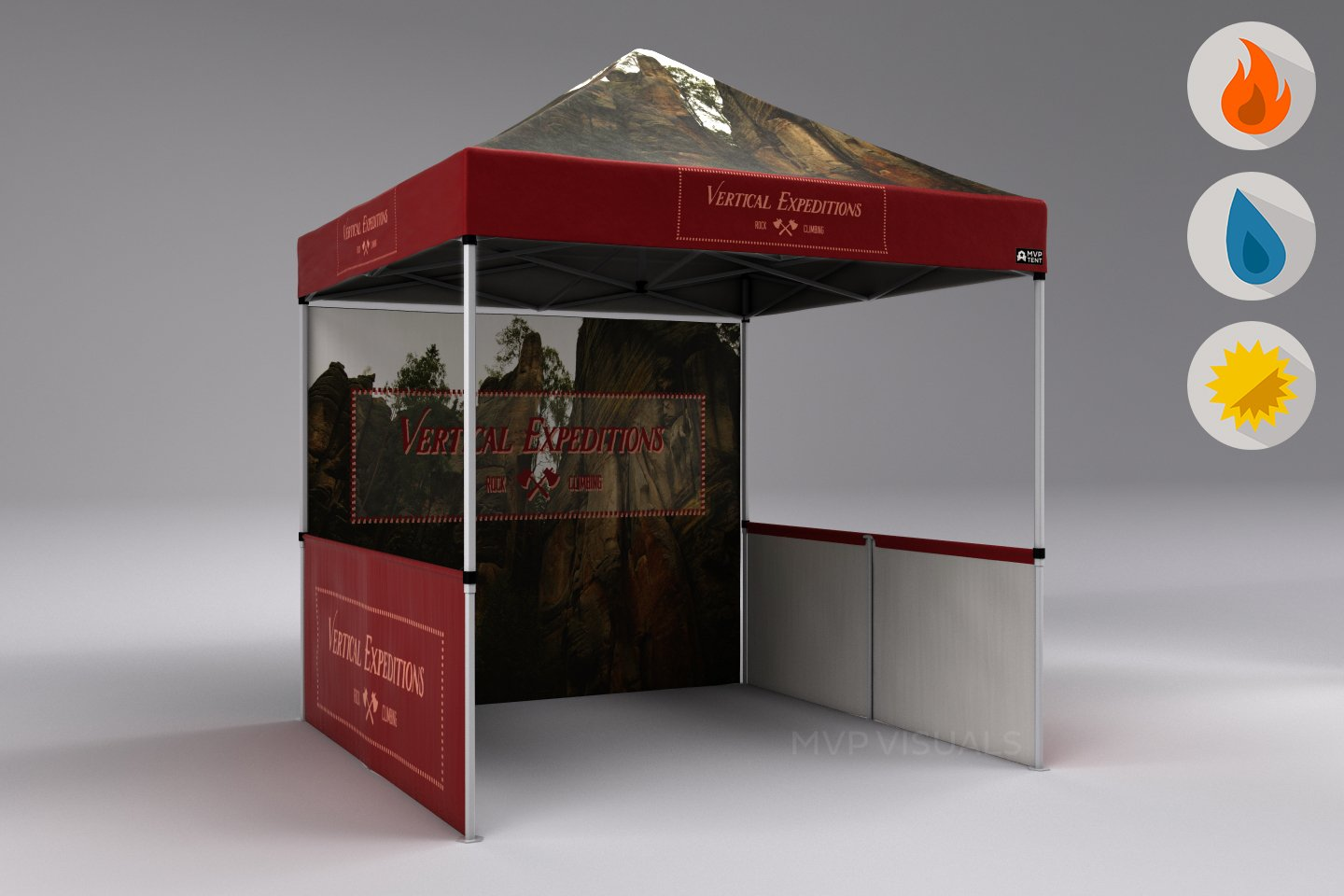 custom graphics for event with canopy frames