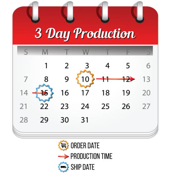 MVP Visuals 3 Day Production Calendar