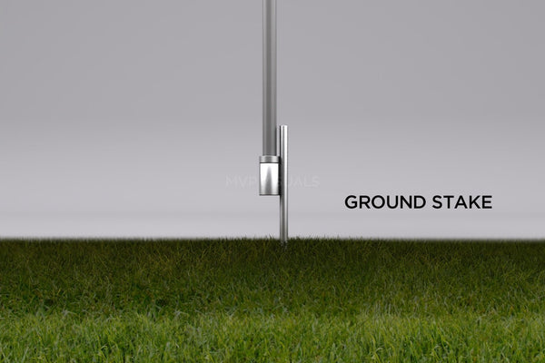 MVP Visuals Advertising Flag Ground Stake