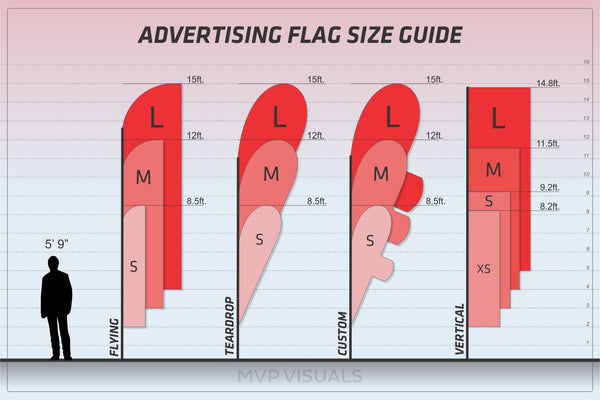 MVP Visuals Advertising Flag Size Guide