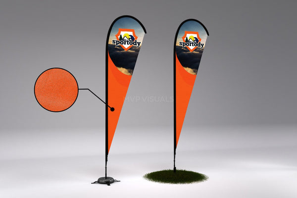 MVP Visuals Custom Advertising Teardrop Flag