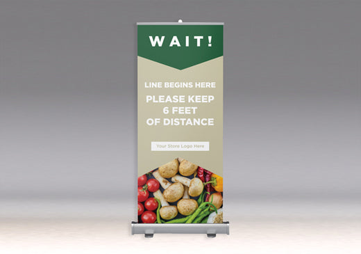 COVID Signage - Economy Roll Up/Retractable Banner