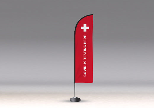 COVID Signage - Custom Flying Advertising Flag