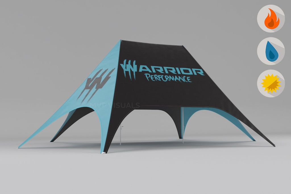 MVP Visuals Custom Star Shape Tent