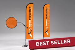 MVP Visuals Custom Advertising Flying Flag