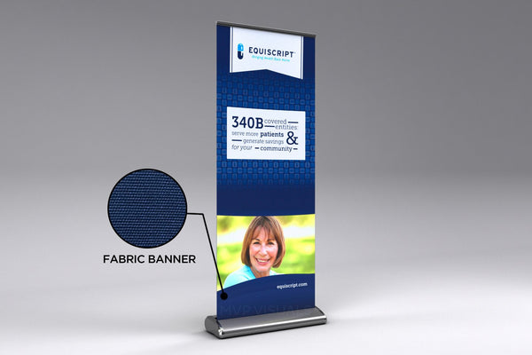 MVP Visuals Fabric Plus Roll Up Banner
